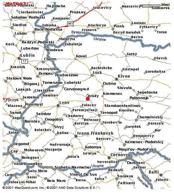 Brody Ukraine Maps Lisa S Ukrainian Heritage