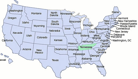 Tennessee Maps - Lumbee American Indians