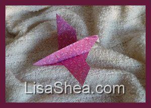 origami wedding invitation