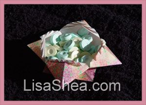 Origami candy dish