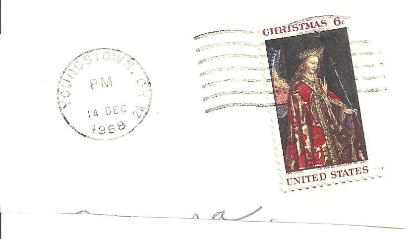 1968 Christmas Stamp