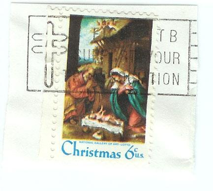 1970 Christmas Stamp - 6 Cent Nativity - Stamp Photos