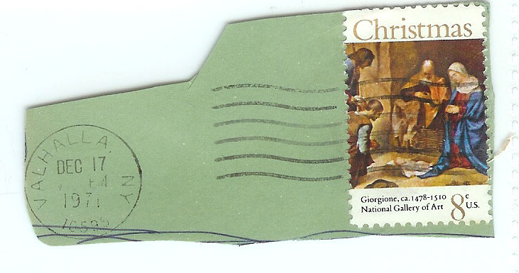 1971 Christmas Stamp 8 Cent Nativity Stamp Photos