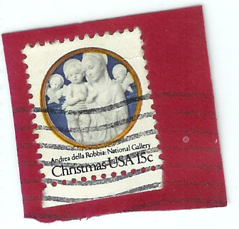1978 Christmas Stamp 15 Cent Virgin Mary Stamp Photos