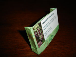 Origami Business Card Holder Instructions
