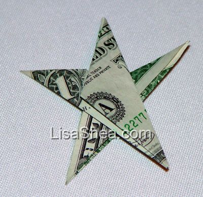 Fold a Money Origami Star from a Dollar Bill - Step by Step ... | 387x400