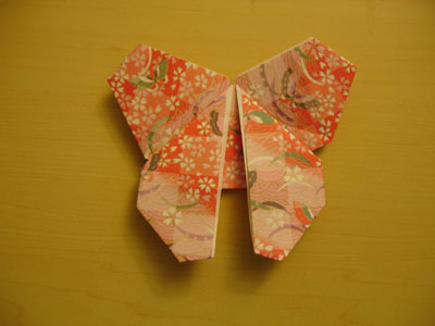 red origami butterfly