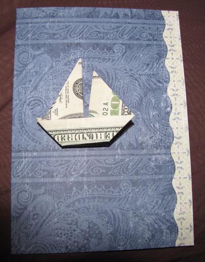 Money Boat origami