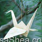 Origami Christmas Crane
