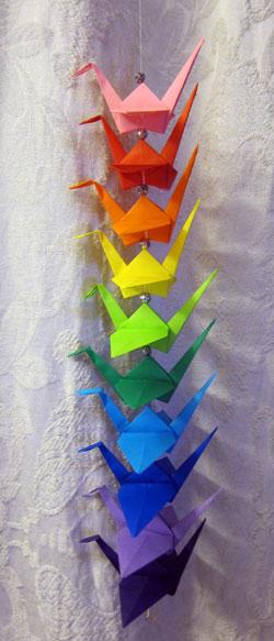 String Of Origami Cranes