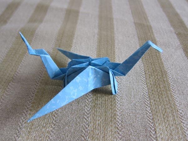 Blue Origami Dragon