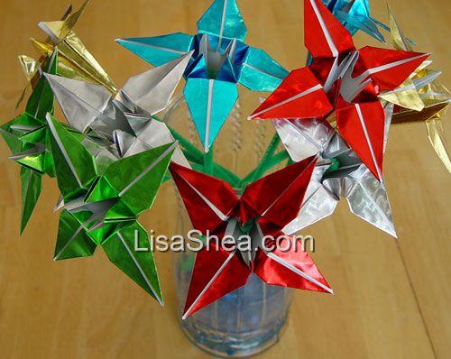 Foil flower origami lily origami rose origami handmade origami sales origami flowers mightylinksfo Gallery