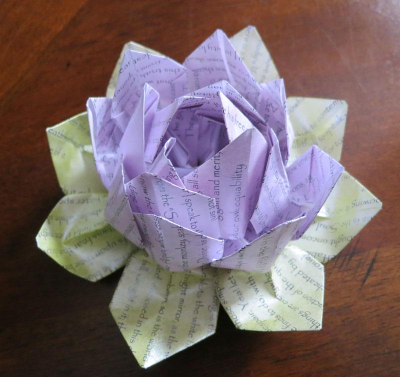Bhagavad Gita Origami Lotus Flower