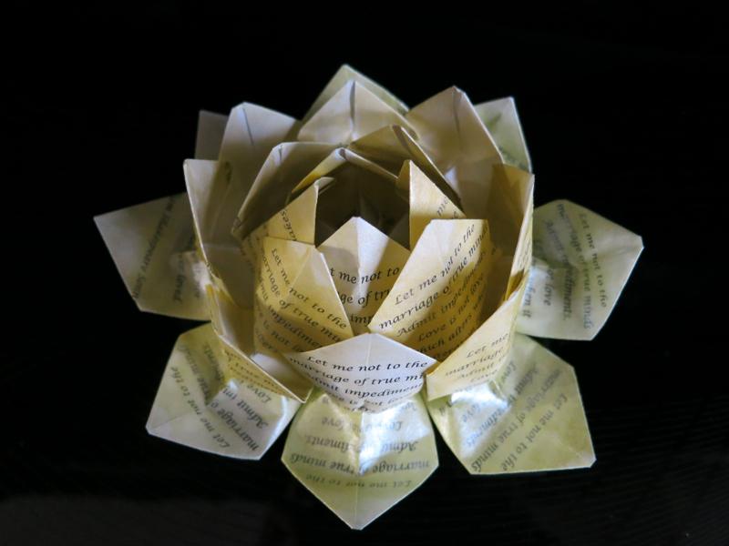 Love Is Not Love Origami Lotus Flower
