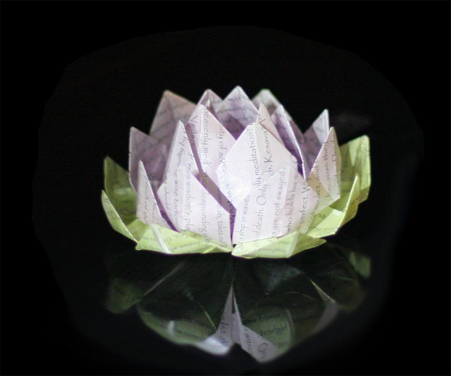 Origami lotus flower handmade origami sales origami lotus flower mightylinksfo