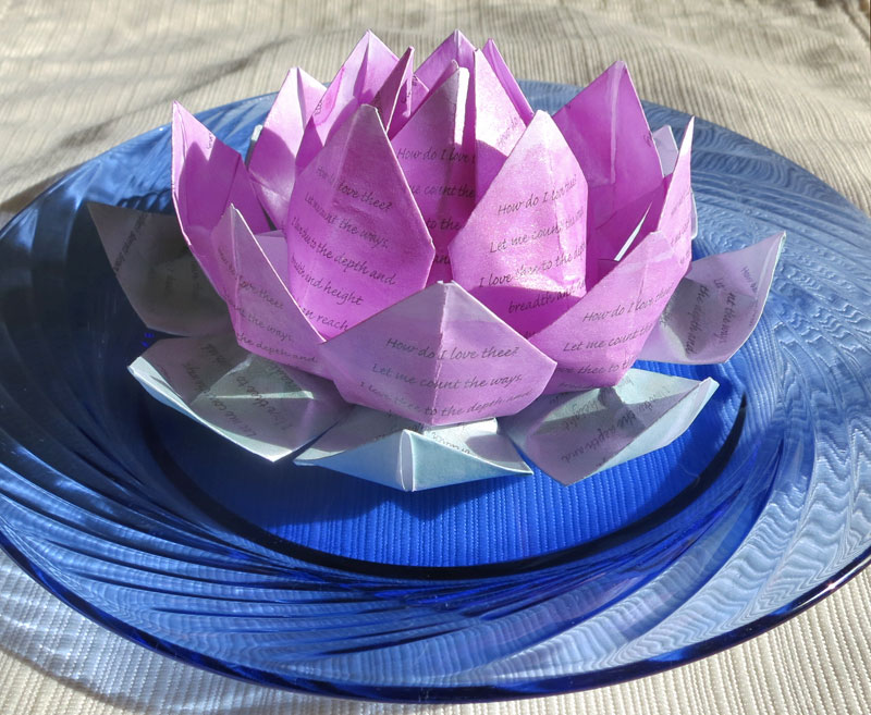 How Do I Love Thee Origami Lotus Flower