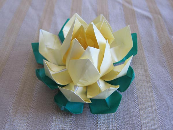 Yellow origami lotus flower mightylinksfo