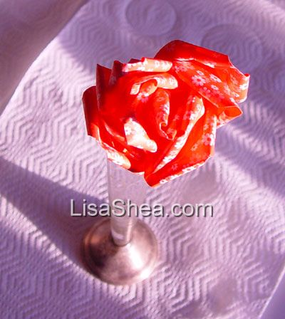 The origami rose is literally the most complex origami shape I offer on my