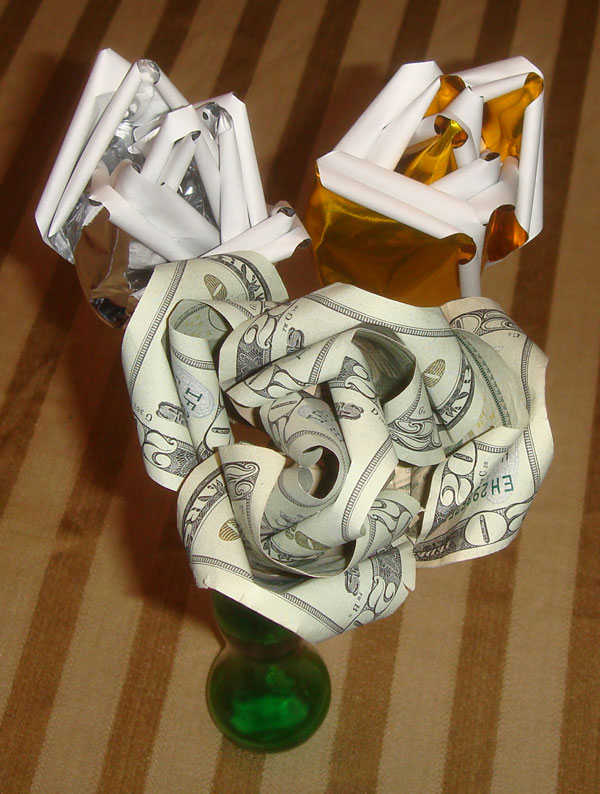 Wealth Rose Origami Bouquet