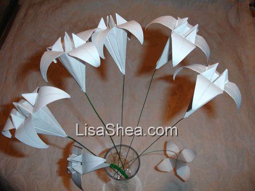 Flower origami stems handmade origami sales origami flower stem mightylinksfo