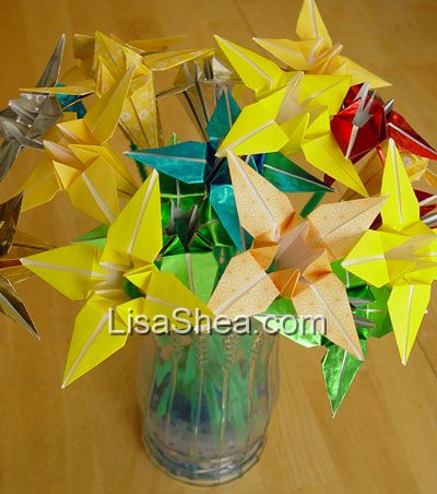 Mixed color origami flower bouquet origami flowers mightylinksfo
