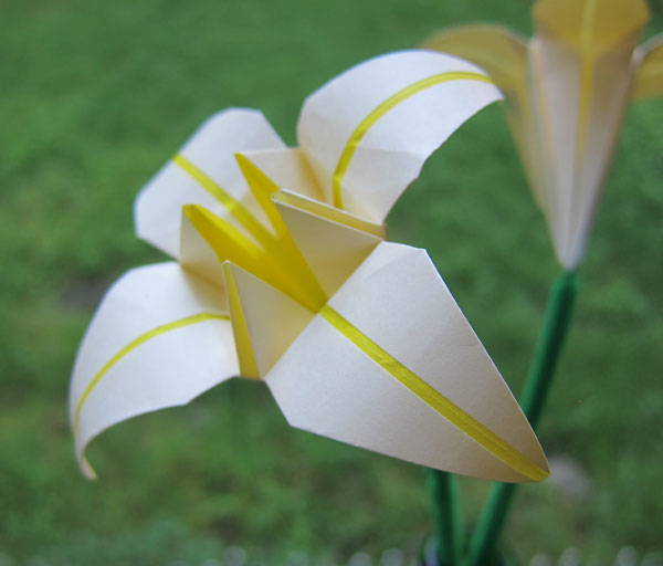 Yellow Origami Lily