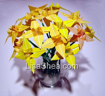 Yellow Origami Flowers