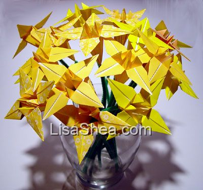 Bouquet of flower origami lily origami rose origami handmade a bouquet of single color and patterned origami flowers is the perfect gift the flowers can create large bountiful bouquets for the center of a table mightylinksfo