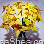 Wedding flower origami