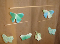 Origami butterfly Mobile