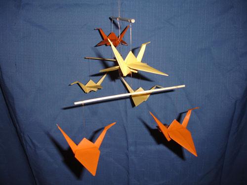 Autumn Paper Origami Mobile