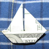 Money Origami Boat