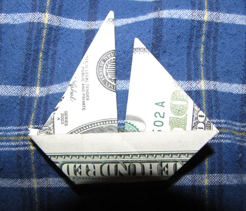 Money Origami BOAT Folded Canoe Stock Image - Image of currency ... | 430x500