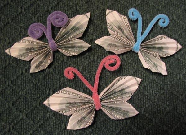 Money bowtie butterfly