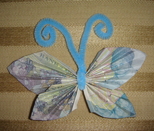 Butterfly Money Origami 171 Embroidery Amp Origami