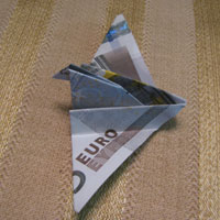 Money Origami Dove