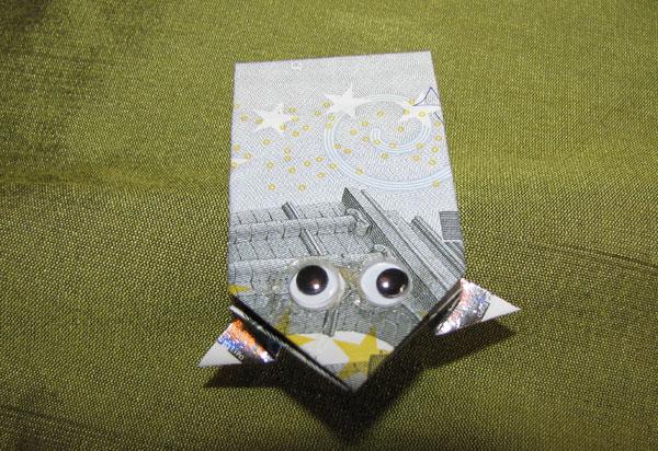 Money Origami Frog