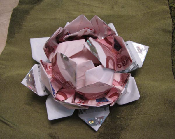 How to fold an origami six piece lotus flower video 5min com