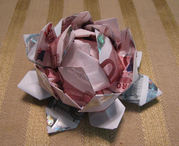 Money origami lotus flower mightylinksfo