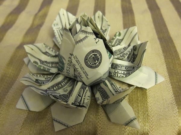 Origami money lotus lisa shea forum mightylinksfo