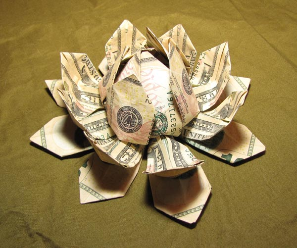 Amazon.com: origami money rose paper flower real dollar bill ... | 501x600