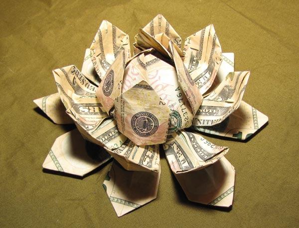 Money Origami Lotus Flower