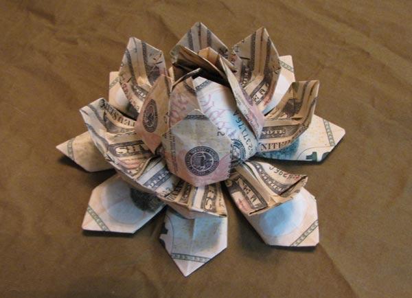 Money flower origami lotus money lotus dollar bill | Etsy | 434x600