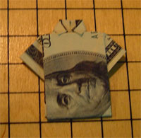 Money Shirt origami