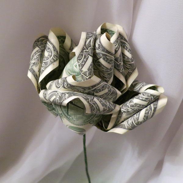 Money Origami Rose