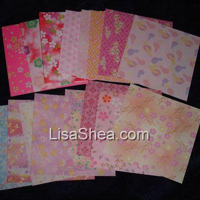 Pink Mini Washi Origami Paper - photo#32