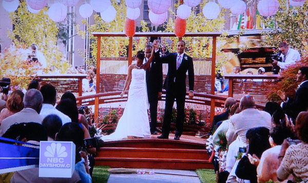 Today show wedding 2008 origami cranes for 1000 paper cranes wedding decoration