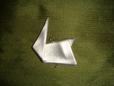 origami silver rabbit jewelry