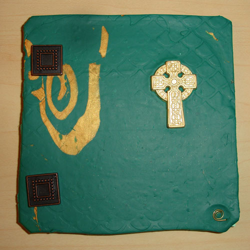 Irish Cross Polymer Clay Journal