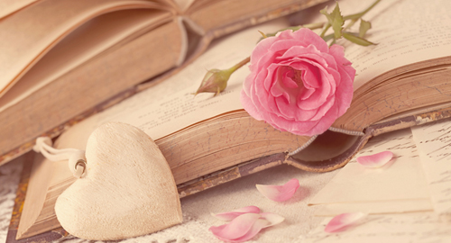 Books with Flowers